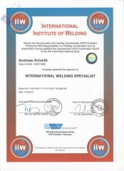 IIW International Welding Specialist